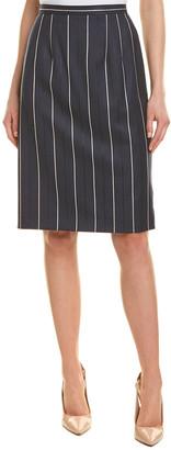 Oscar de la Renta Silk-Lined Wool-Blend Pencil Skirt