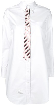 Thom Browne Oxford tie effect shirt dress