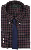 Lauren Ralph Lauren Poplin Checks Classic Dress Shirt Men's Clothing