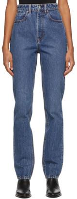 Alexander Wang Indigo High-Waist Slim Jeans