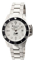 Heritor Automatic Pytheas Mens Pro-Diver Bracelet Watch With Magnified Date Display-Silver Watches