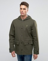 Lyle & Scott Showerproof Raincoat 2 Pocket In Green