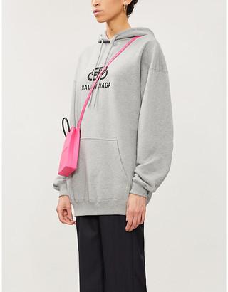 Balenciaga Logo-print relaxed-fit cotton-jersey hoody