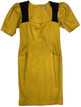 Saint Laurent Yellow Cotton Dresses