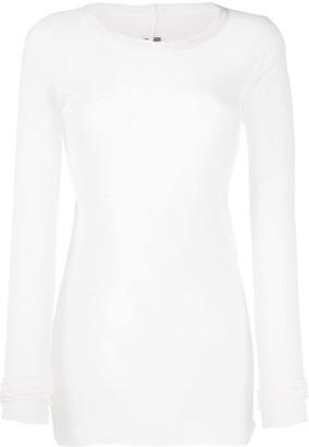 Rick Owens long-length cotton T-shirt