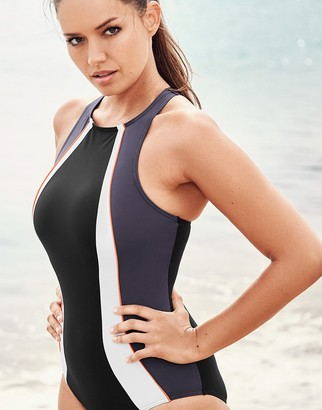 Figleaves Freestyle Sports High Neck Shaping Swimsuit