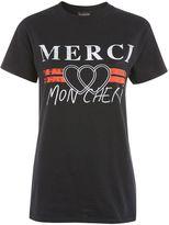 Topshop 'Merci' Graphic T-Shirt