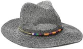 San Diego Hat Company Women's Knit Panama Hat with Multicolor Beaded Band