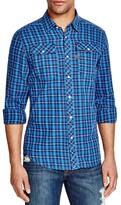 G Star Landoh Plaid Regular Fit Snap Front Shirt