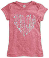 Urban Smalls Heather Red Arrow Heart Fitted Tee - Toddler & Girls