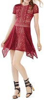 BCBGMAXAZRIA Aileen Lace Handkerchief Hem Dress
