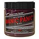 Manic Panic Semi-Permament Haircolor Deep Purple 4 Ounce Jar (118ml)