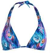 Gottex Peacock Pattern Bikini Top
