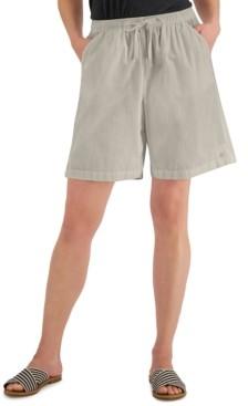 Karen Scott Petite Lila Drawstring Shorts, Created for Macy's