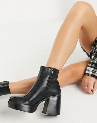 ASOS DESIGN Ragan chunky platform boots in black