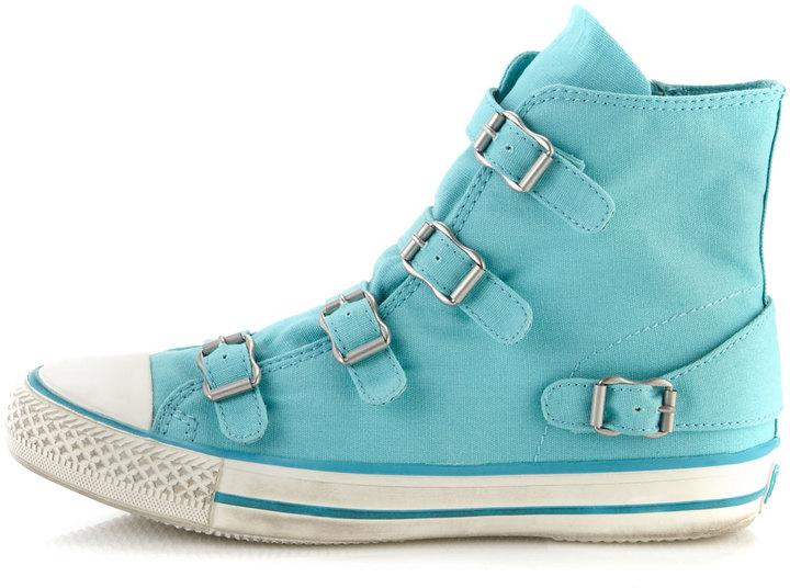 Ash Virgin Buckled Sneaker, Turquoise