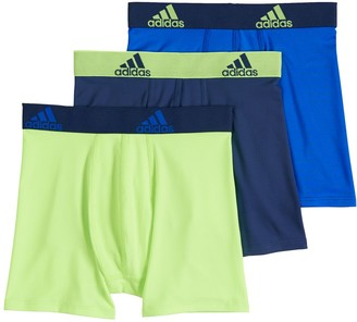 adidas Boys 4-20 Sport Performance climalite 3-Pack Boxer Briefs