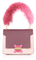 Anya Hindmarch Pink Bathurst X Bag with Fox Fur Handle