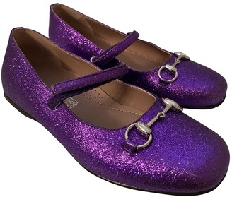 Gucci Purple Glitter Ballet flats