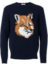MAISON KITSUNÉ fox head jumper - men - Lambs Wool - S
