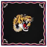 Gucci Tiger print modal silk scarf