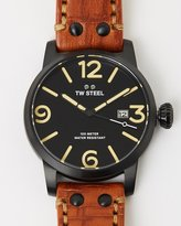 TW Steel Maverick Leather 3-Hands Quartz 48mm
