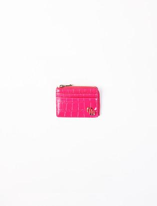 Maje Embossed leather card holder