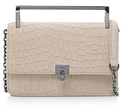 Botkier Lennox Small Croc-Embossed Leather Crossbody