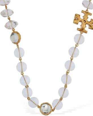 Tory Burch Roxanne Long Necklace W/ Imitation Pearl