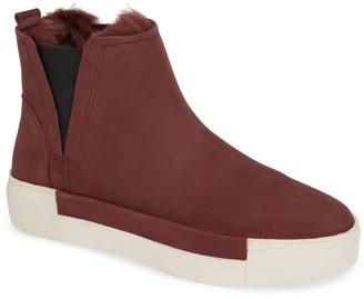 J/Slides Val Faux Fur Lined Platform Sneaker