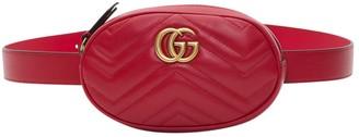 Gucci Gg Marmon Belt Bag In Chevron Leather