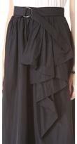 Robert Rodriguez Belted Cascade Long Skirt