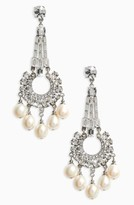 Ben-Amun Women's Imitation Pearl & Crystal Drop Earrings
