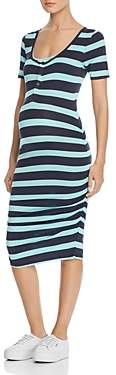 Nom Maternity Snap-Front Ruched Tee Dress