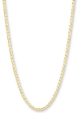 """CHARMBAR Box Link Chain Necklace, Adjustable 16"""" - 20"""""""
