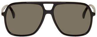 Gucci Black Ultralight Pilot Sunglasses