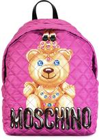 Moschino crowned bear backpack - women - Calf Leather/Polyester - One Size