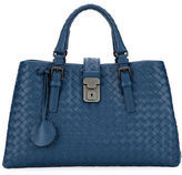 Bottega Veneta Roma Small Woven Compartment Tote Bag