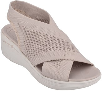 Easy Spirit Slip-on Rounded Toe Slingback Sandals - Blast