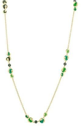 MARINA B 18K Yellow Gold, Tsavorite Green Quartz Chain Necklace
