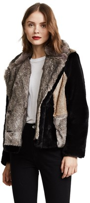 Rebecca Taylor Women's Patched Fur Jacket