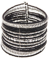 Stephan & Co Metal & Seed Bead Stripe Detail Cuff