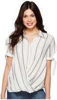 Blank NYC Striped Detailed Shirt in Me and You Women's Clothing