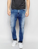 Replay Hyperfree MA947 Slim Tapered Low Crotch Jeans Superstretch in Acid Blue