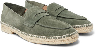 Castaner Nacho Collapsible-Heel Suede Espadrille Loafers