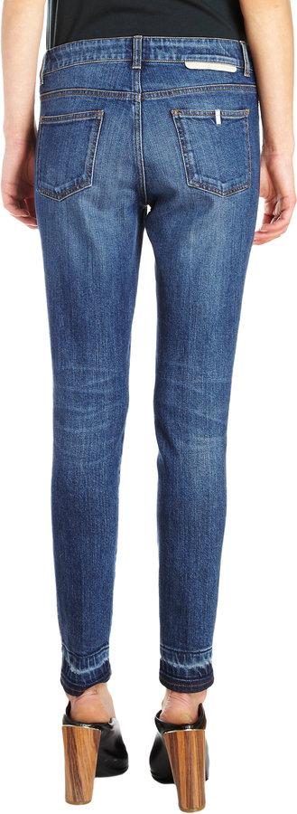 Stella McCartney Gradient Cuff Cropped Skinny Jeans