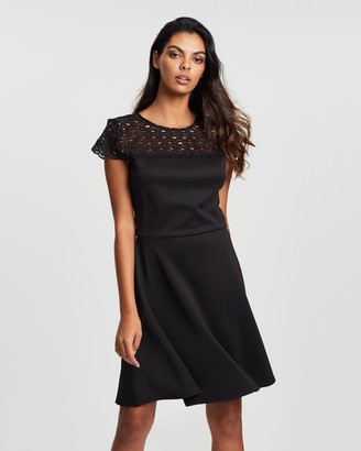 Dorothy Perkins Lace Top Skater Dress