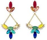 Lulu Frost Crystal & Faux Pearl Chandelier Earrings