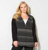 Avenue Variegated Stripe Knit Jacket