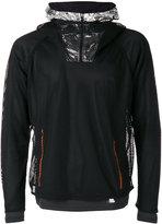 adidas layered fishnet sports hoodie